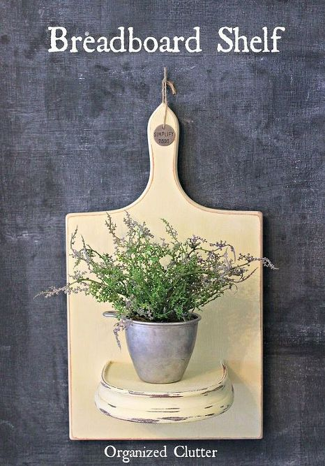 repurposed-breadboard-to-vintage-shelf-crafts-repurposing-upcycling-shelving-ideas