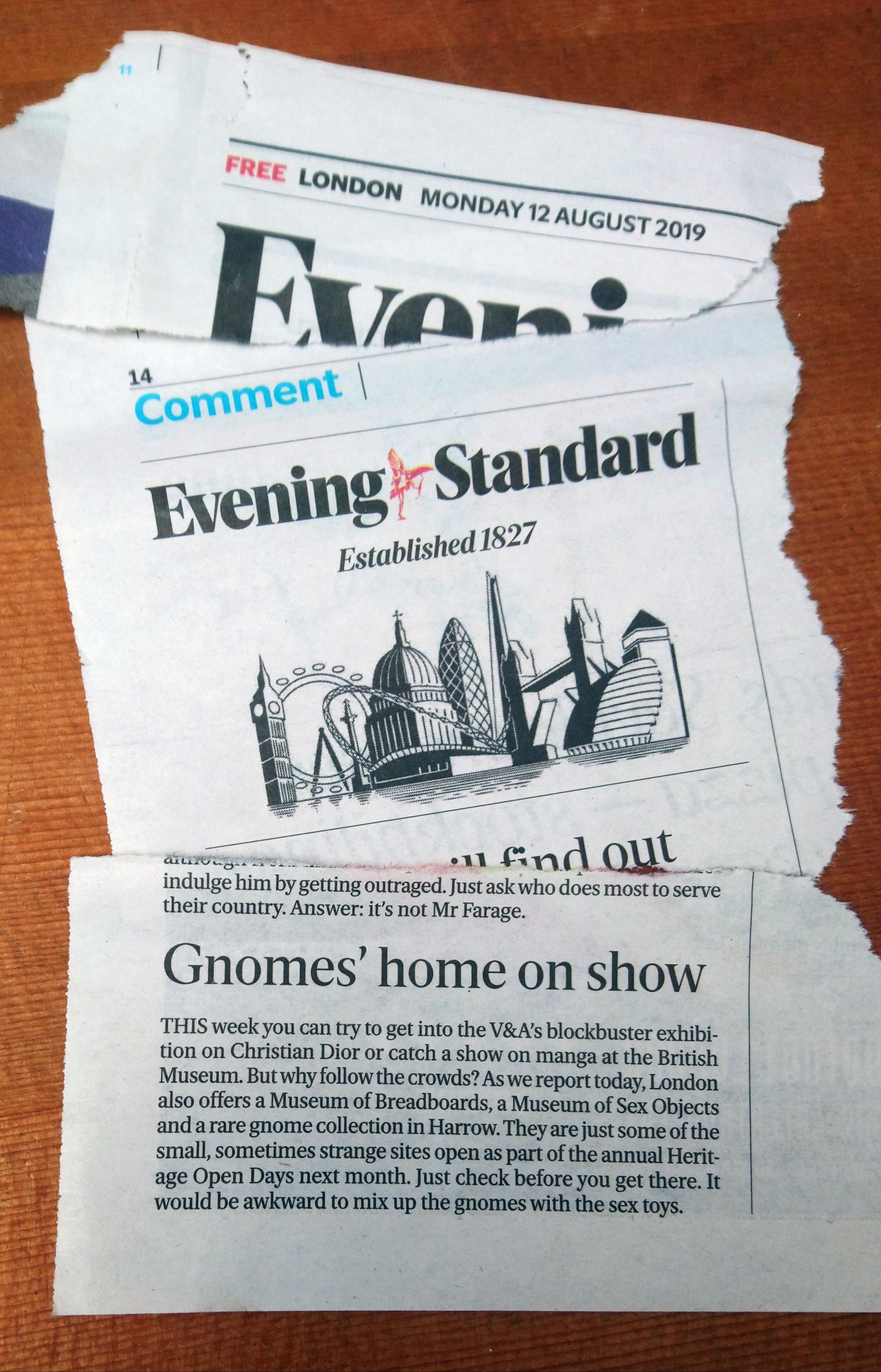Evening Standard August